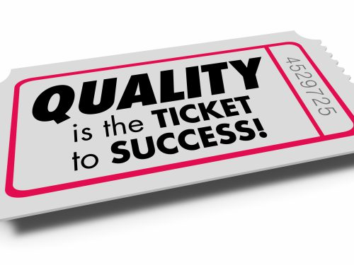 Quality Value Good Characteristics Ticket Success 3d Illustration